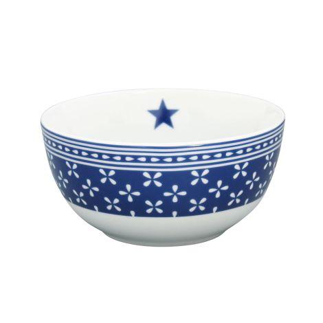 Krasilnikoff Schüssel Happy Bowl Daisy Dark Blue •