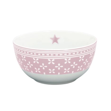Krasilnikoff Schüssel Happy Bowl Daisy Pink