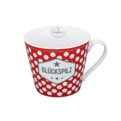 Krasilnikoff Happy Cup Tasse Glückspilz •