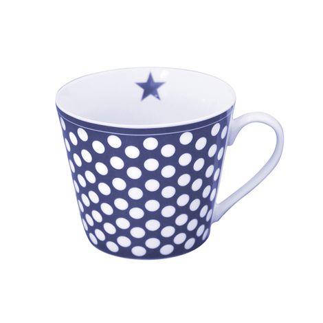 Krasilnikoff Happy Cup Tasse Big Dots Dark Blue •