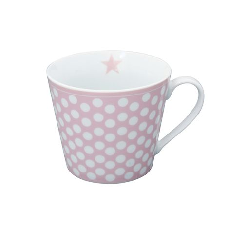 Krasilnikoff Happy Cup Tasse Big Dots Pink