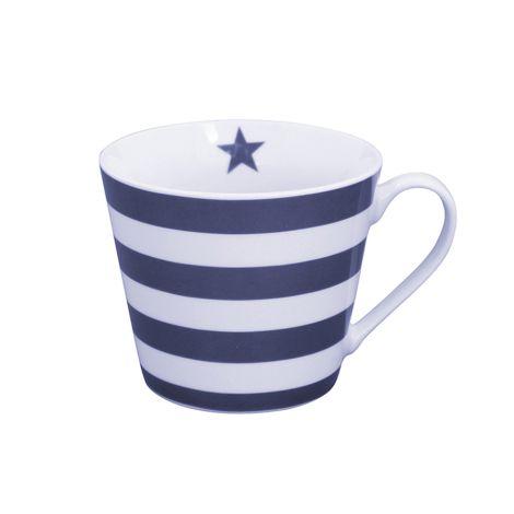 Krasilnikoff Happy Cup Tasse Stripes Dark Blue