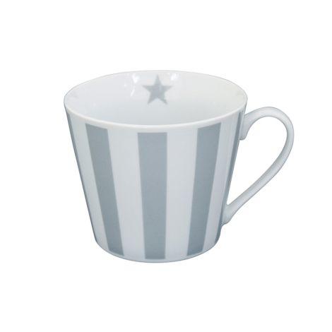 Krasilnikoff Happy Cup Tasse Vertical Stripes Grey