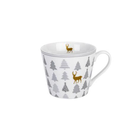 Krasilnikoff Tasse Happy Cup Christmas Trees With Deer