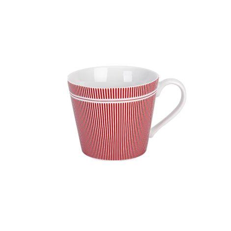 Krasilnikoff Tasse Happy Cup Pinstripe Red