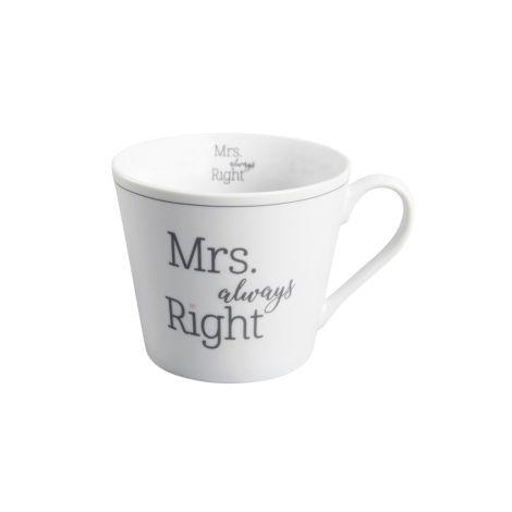 Krasilnikoff Happy Cup Tasse Mrs Always Right
