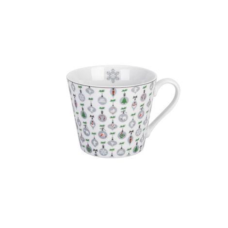 Krasilnikoff Tasse Happy Cup X-mas Ornaments