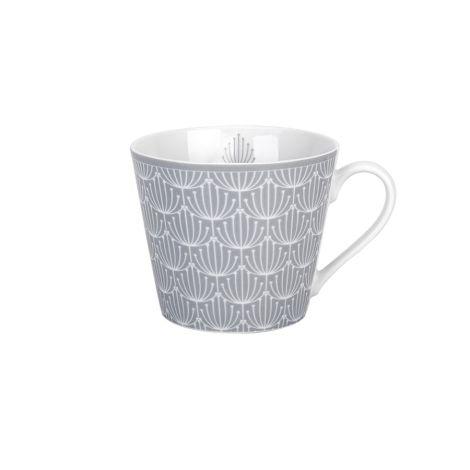Krasilnikoff Tasse Happy Cup Blossom Grey