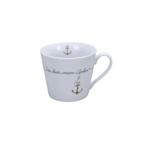 Krasilnikoff Tasse Happy Cup Du bist mein Anker