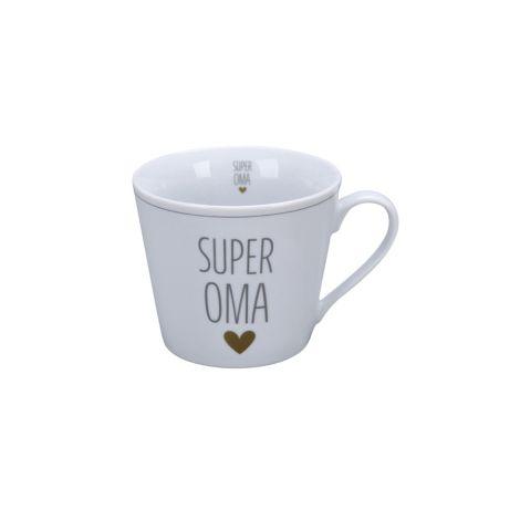 Krasilnikoff Tasse Happy Cup Super Oma Herz