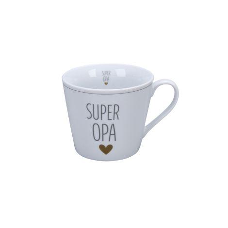 Krasilnikoff Tasse Happy Cup Super Opa Herz
