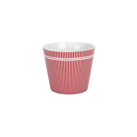 Krasilnikoff Becher Happy Cup Tumbler Pinstripe Red