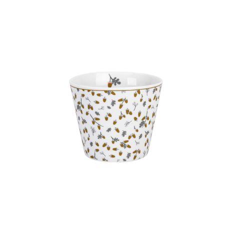 Krasilnikoff Becher Happy Cup Tumbler Golden Acorns