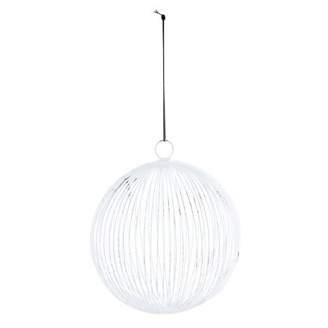 House Doctor Deko-Ornament Circles Weiss 12,5 cm
