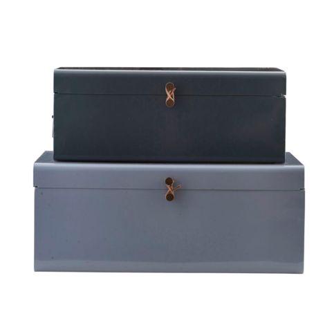 House Doctor Aufbewahrungs-Box Metall 2er-Set