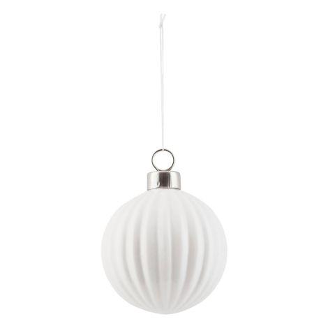 House Doctor Deko-Ornament Pleated White