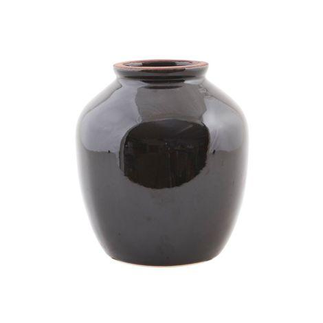 House Doctor Vase Shine Black M •