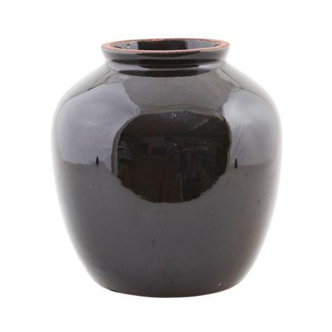 House Doctor Vase Shine Black L •