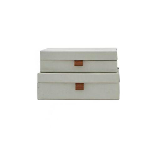 House Doctor Aufbewahrungs-Box STD 2er-Set Grau Groß