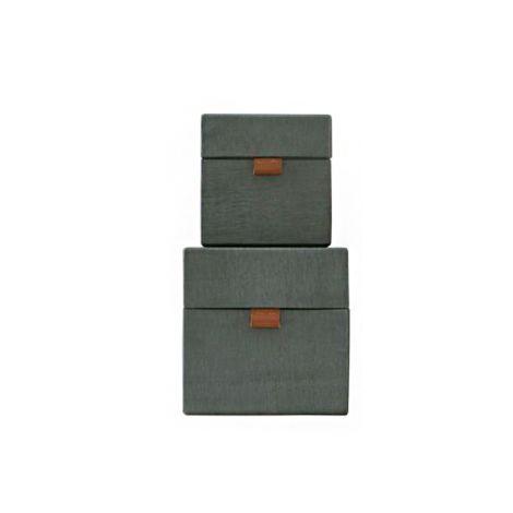 House Doctor Aufbewahrungs-Box STD 2er-Set Grün Klein