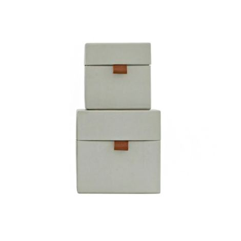 house doctor aufbewahrungs box std 2er set grau klein