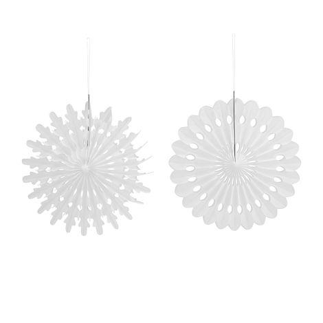 House Doctor Deko-Ornament Cut Weiß L 4er-Set
