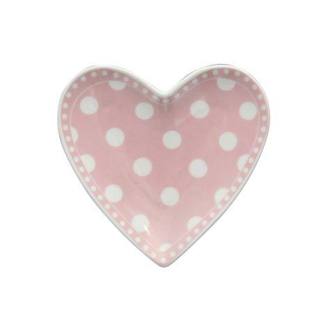 Krasilnikoff Teller Herz Dots Pink