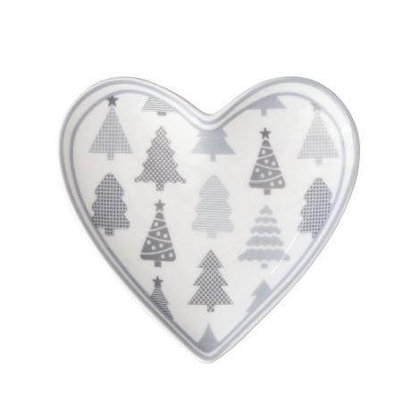 Krasilnikoff Teller Herz Christmas Trees