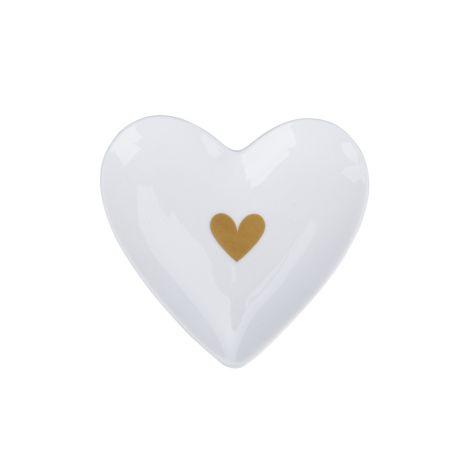 Krasilnikoff Teller Herz Heart of Gold