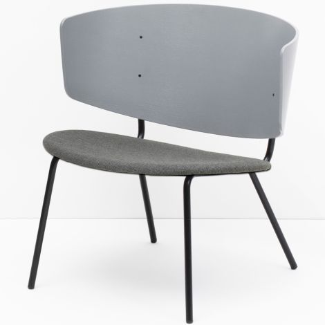ferm LIVING Stuhl Herman Lounge Chair Grey/Light Grey