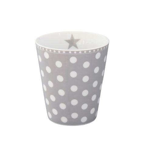 Krasilnikoff Happy Mug Becher New Dots Grey