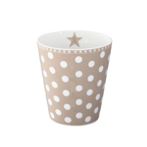 Krasilnikoff Happy Mug Becher New Dots Taupe