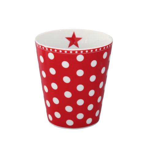 Krasilnikoff Happy Mug Becher New Dots Red