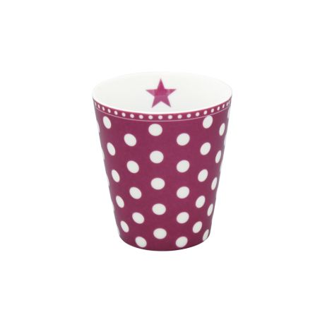 Krasilnikoff Happy Mug Becher Dots Plum