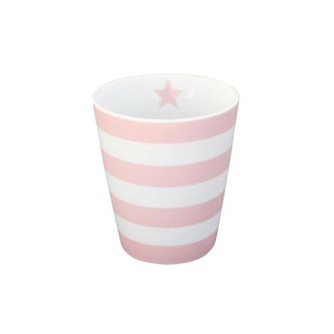 Krasilnikoff Happy Mug Becher Stripes Pink