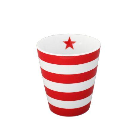 Krasilnikoff Happy Mug Becher Stripes Red