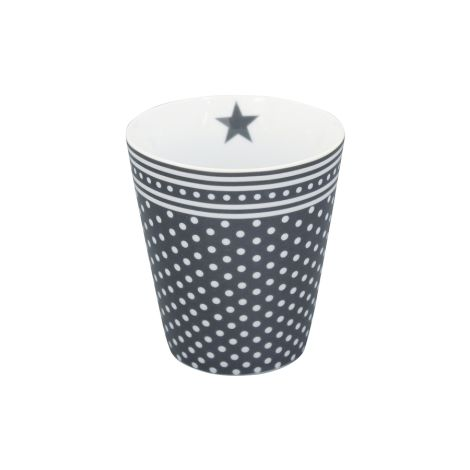 Krasilnikoff Happy Mug Becher Micro Dots Charcoal