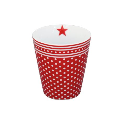 Krasilnikoff Happy Mug Becher Micro Dots Red