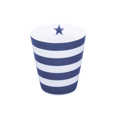 Krasilnikoff Happy Mug Becher Stripes Dark Blue