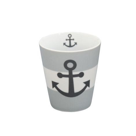 Krasilnikoff Happy Mug Becher Anker Grey