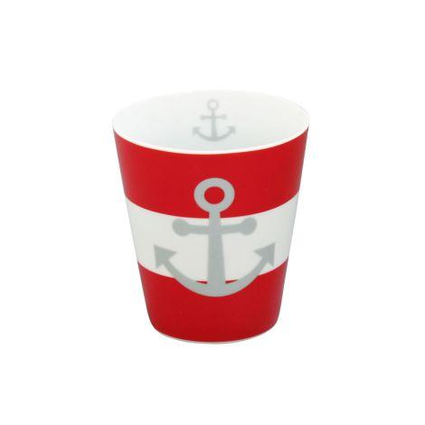 Krasilnikoff Happy Mug Becher Anker Red •