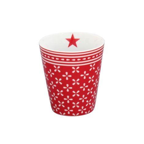 Krasilnikoff Happy Mug Becher Daisy Red •