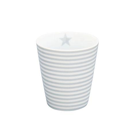 Krasilnikoff Happy Mug Becher Thin Stripes Grey