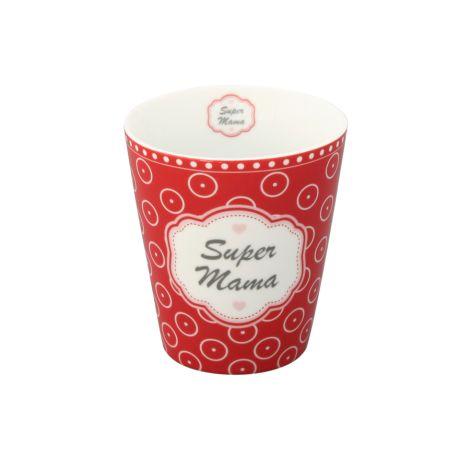 Krasilnikoff Happy Mug Becher Super Mama •