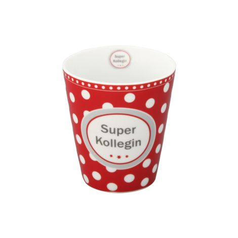 Krasilnikoff Happy Mug Becher Super Kollegin