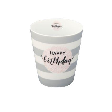 Krasilnikoff Happy Mug Becher Happy Birthday