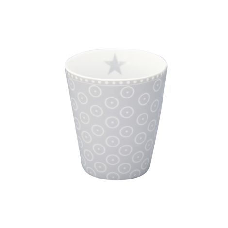 Krasilnikoff Happy Mug Becher Circle Dot Grey