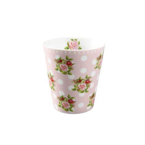 Krasilnikoff Happy Mug Becher Dots n' Roses