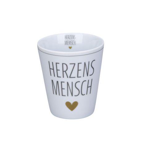 Krasilnikoff Becher Happy Mug Herzensmensch