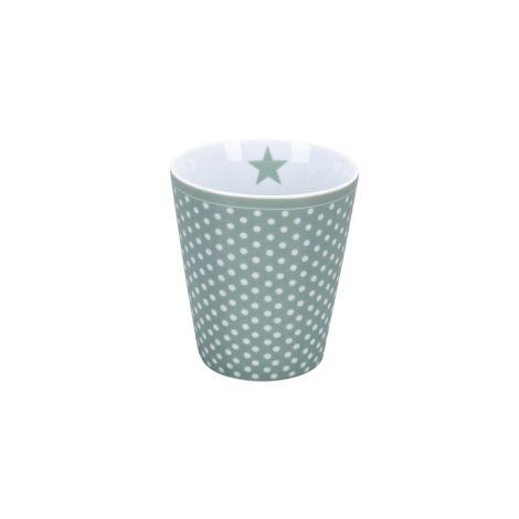 Krasilnikoff Becher Happy Mug Micro Dots Dusty green